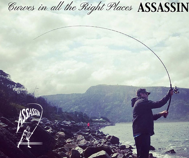 Assassin Rods Ad image with logo
